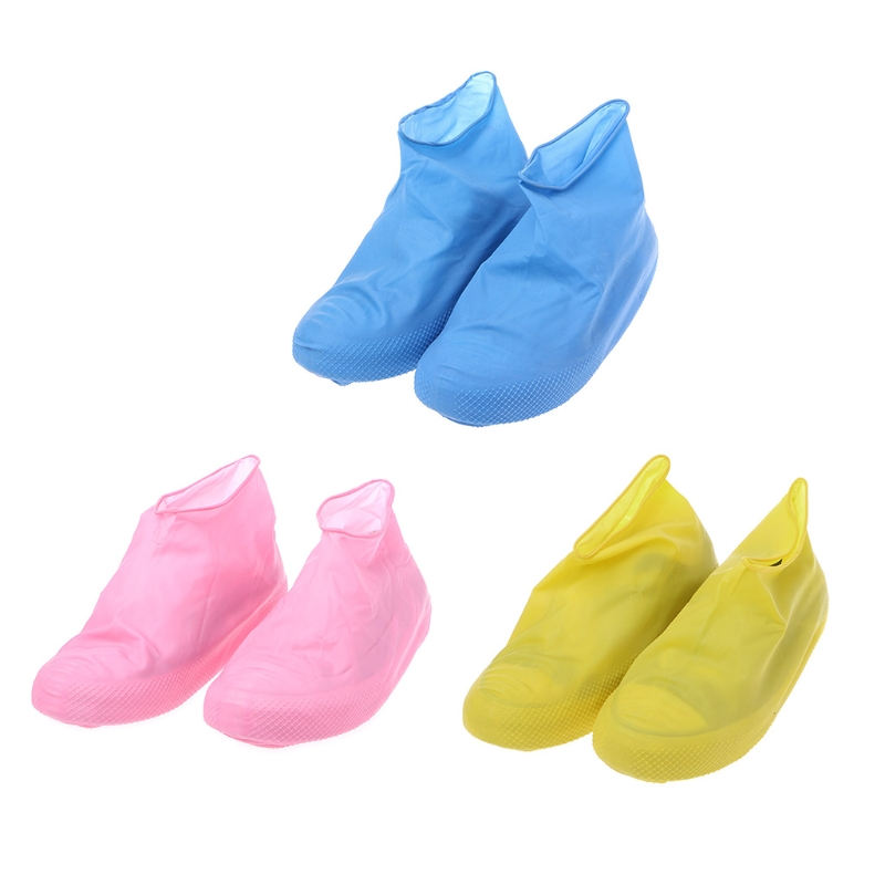 THINKTHENDO Single Use Latex Shoe Cover Waterproof Raining Disposable Outdoor Protector Tool 50 pcs 25mm 30mm 35mm40mm male external catheter single use disposable collector latex urine pick urinal bag