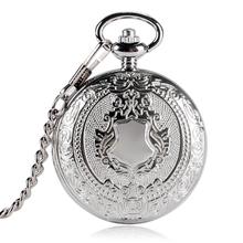 Luksusowa moda srebrna tarcza projekt zegarek kieszonkowy mężczyźni kobiety Fob zegar mechaniczny ręcznie nakręcany reloj bolsillo prezent łańcuch P2032C tanie tanio Kieszonkowy zegarki kieszonkowe STAINLESS STEEL Unisex Stacjonarne Akrylowe ALLOY YISUYA Szkło Moda casual Nowy z metkami