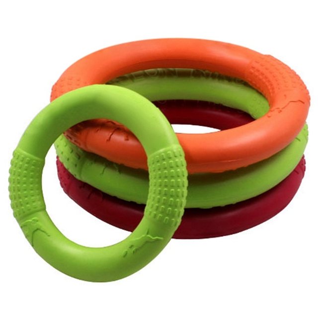 Pet toys New Large Dog Flying Discs Trainning Puppy Toy Rubber Training Ring Dog Toys Pet Products Motion Tools
