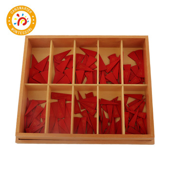 Montessori Baby Toy Cut-Out Fraction Circles Teaching Aids Wooden Toy Board Education Preschool Kids