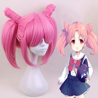 Anime Sailor Moon Cosplay Wigs Chibiusa Cosplay Hair Wig Heat Resistant Synthetic Wig Halloween Carnival Party Women Cosplay Wig
