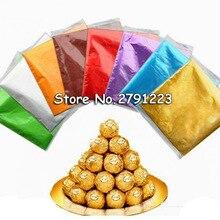 500 шт конфет, конфета, посылка, фольгированная бумага, Рождественская Фольга для шоколада на палочке, обертки, квадратные, разные цвета