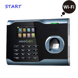 ZK U160 WI-FI TCP/IP Биометрические табельные часы с отпечатком пальца Регистраторы сотрудник посещаемости электронное считывающее устройство