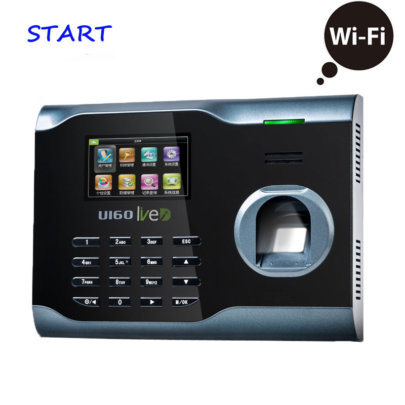 ZK U160 WIFI TCP/IP Biometric Fingerprint Time Clock Recorder Attendance Employee Electronic Reader Machine  Time Recording