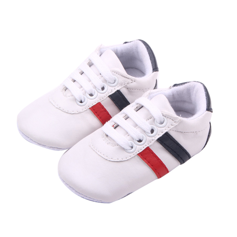 HOT SALE Baby Girls Boys Cute Dot Bow Soft Sole Anti-slip Toddlers Shoes styleD-white 12-18 Months