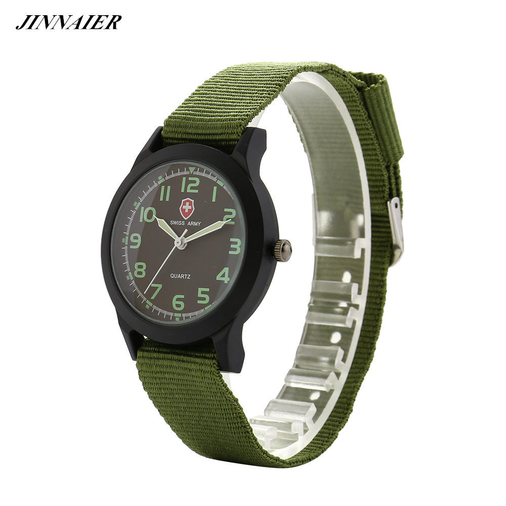 Free Drop Shipping Newest Hot Sales 3colors Brand Logo Men Gifts Retro Watch Quartz Cloth Belt Wristwatch