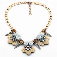 New Brand All Match Flower Collar Necklace Fashion Cute Chunky Statement Choker Charm Jewelry Factory Wholesale
