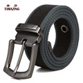 men's Canvas belt pin buckle strap lengthen belt 110/120/130/140/150/160cm tactical belt