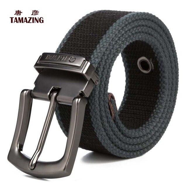 men's Canvas belt pin buckle strap lengthen belt 110/120/130/140/150/160cm tactical belt