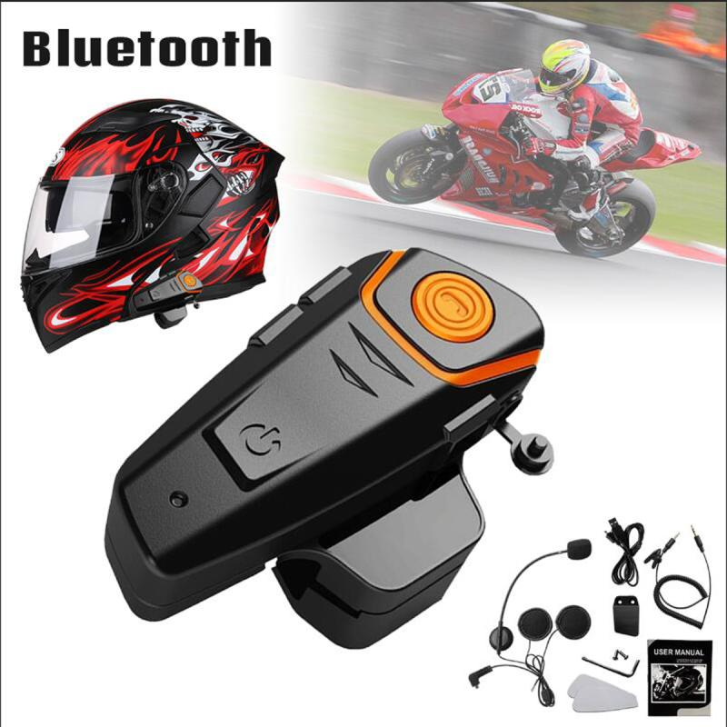 KINCO Automatic Answering FM Waterproof Music Motorcycle Bluetooth 3.0 Headset 1000m Intercom Headset FM answering back