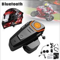 KINCO Automatic Answering FM Waterproof Music Motorcycle bluetooth 3.0 Headset 1000m Intercom Headset FM