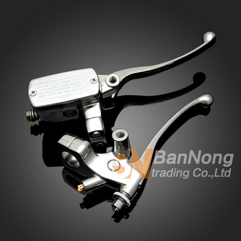 2color 1'' 25mm clutch lever with Mirror sitting brake master cylinder pump For Honda Magna 250 750 shadow 400 750 Steed 400 600 тюнинг фар мотоцикла 400 600 steed