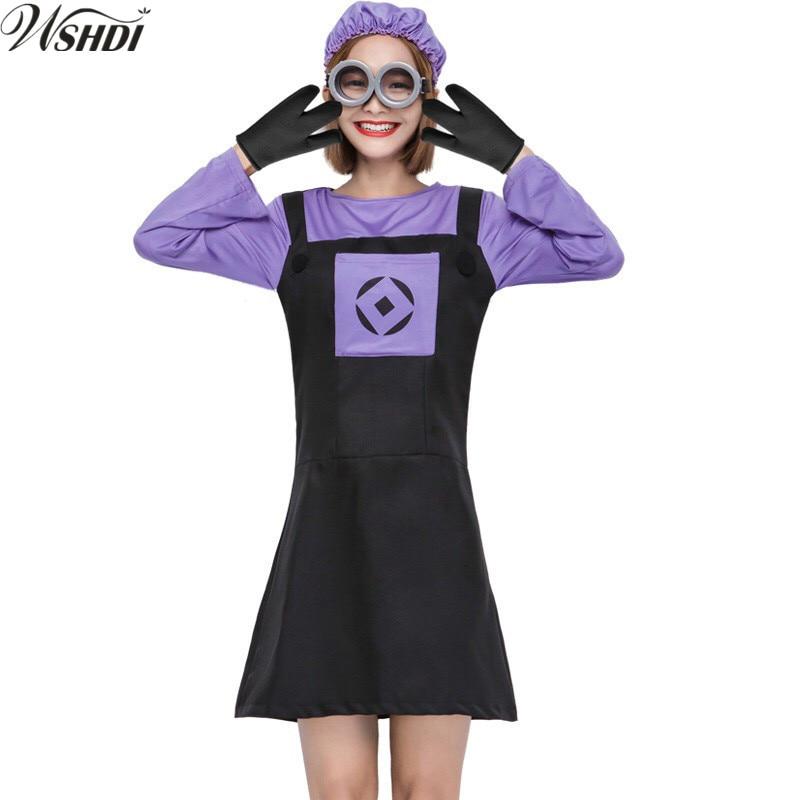 Women Kawaii Despicable Me Dress Funny Purple Evil Minions ...