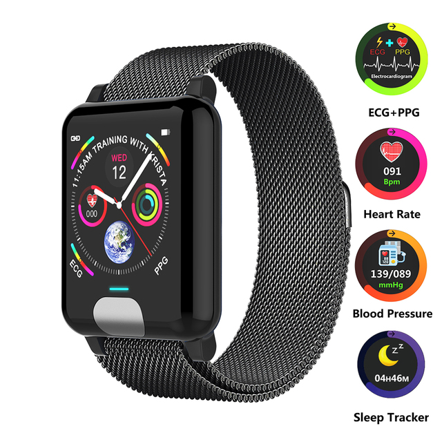 Smart Wristband Heart Rate Monitor ECG+PPG Smart Fitness Tracker Blood Pressure Watch Smart Bracelet for Android IOS Watch Phone
