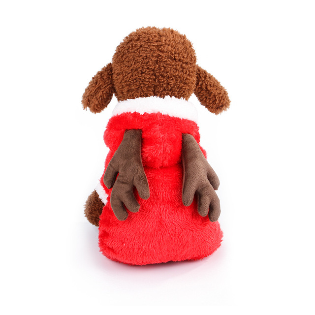2018 new autumn winter pet dog clothes warm elk hoodies rabbit coat clothing for small large - Large Dog Christmas Outfits