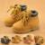 NUEVA Primavera 2016 Niños Martin botas Niños zapatos Casuales de cuero de LA PU Niños botines de Invierno de La Moda niñas bebés zapatos para hombre