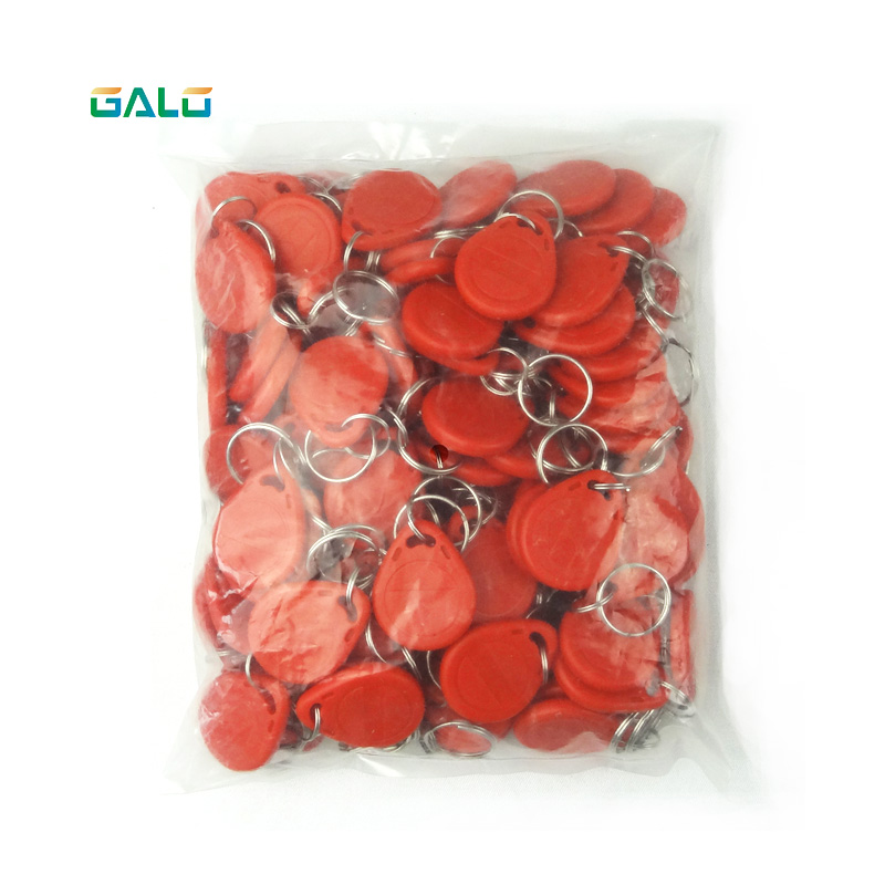 100pcs Rfid Tag 125Khz Proximity RFID Card Keyfobs Access Control Smart Card Blue Yellow Red