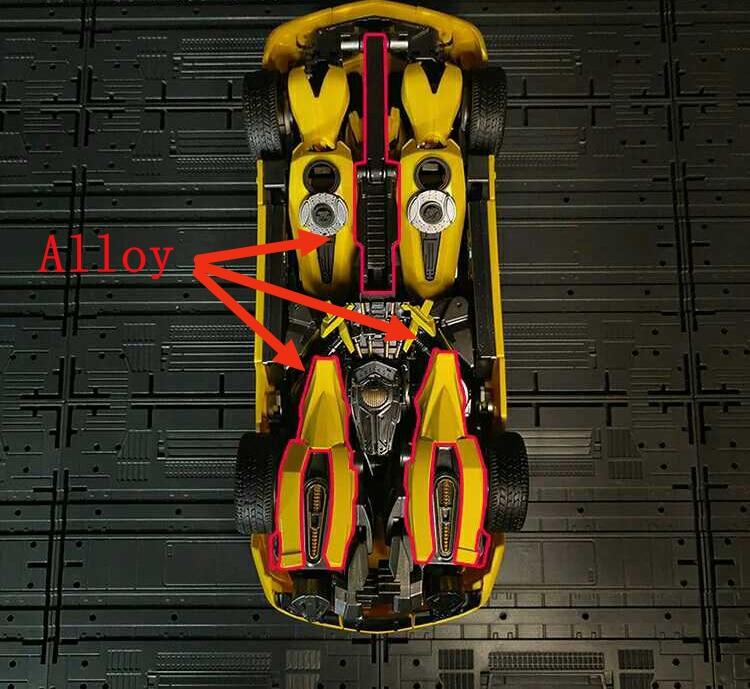 WJ Bambelbee 28cm Alloy MPM-03 Transformation Yellow Bee Movie Oversize Version