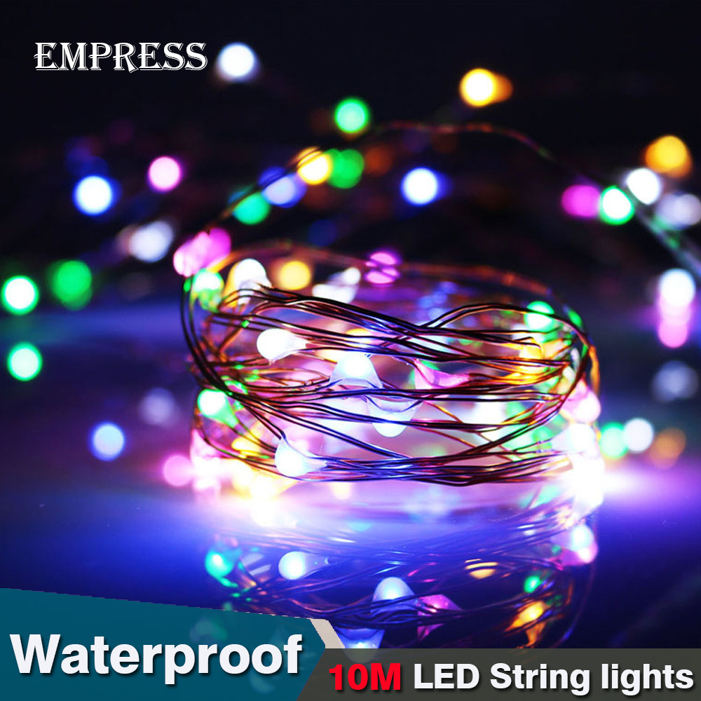 10M LED String Lights Waterproof Light String Christmas Outdoor Lighting Copper Wire Wedding Party LED Fairy