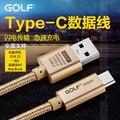 Golf tipo c cable de sincronización de datos de carga para zuk z1 oneplus two nokia n1 letv una x600 x900 google nexus 5x6 p meizu pro5 qin