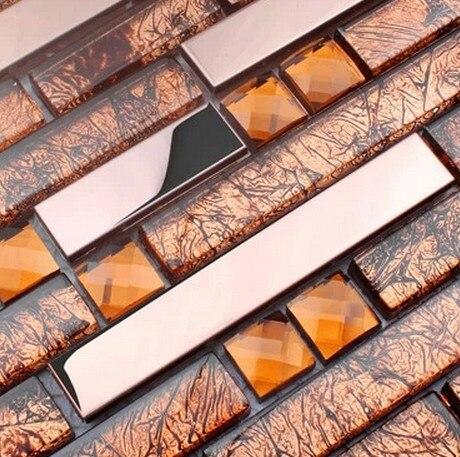 Streifen Metall Gemischt Galvanik Glas Fliesen Diamant Netzeinsatz Für  Küche Glas Backsplash Fliesen Badezimmer Dusche Fliesen Grenze In Streifen  Metall ...