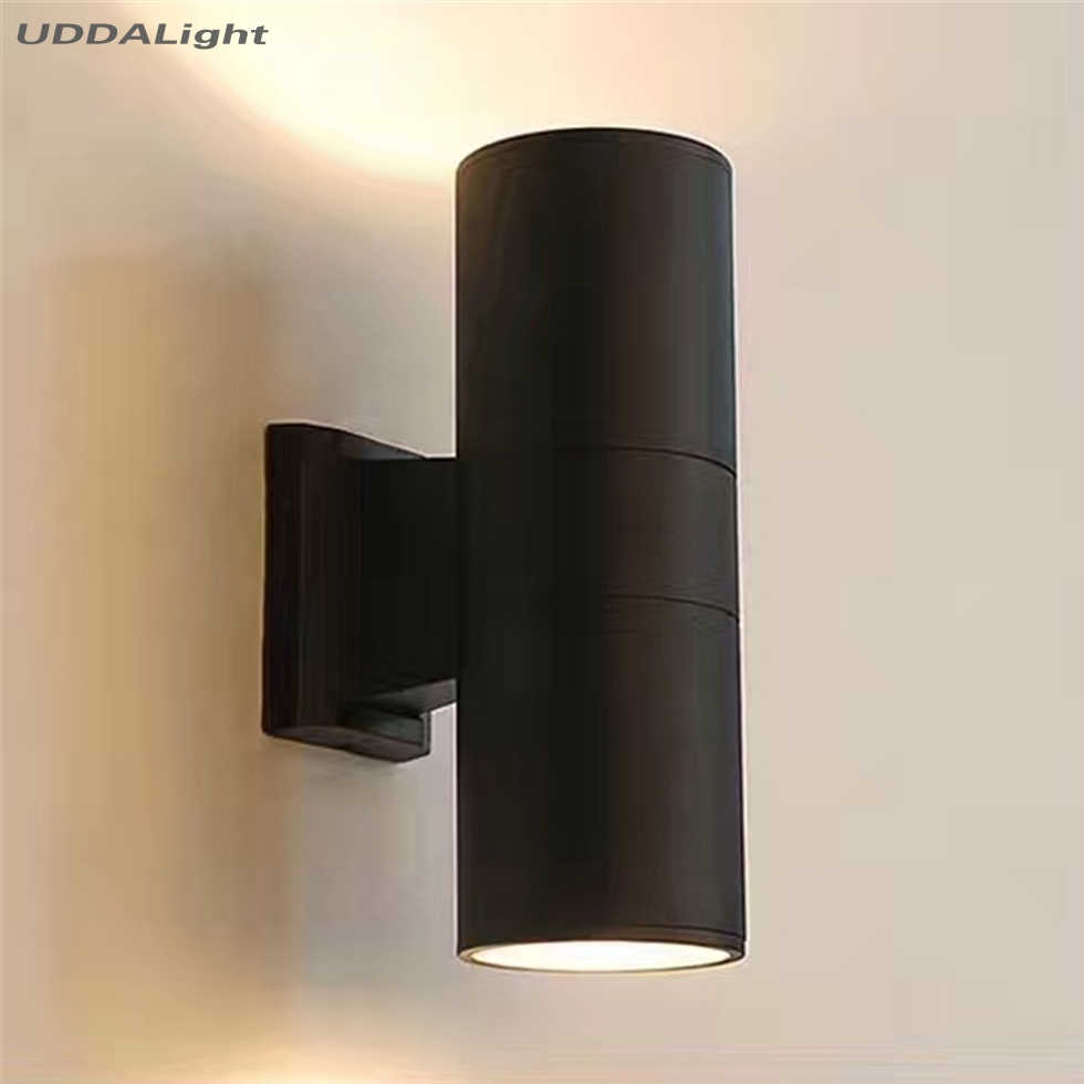 black gray up down outdoor wall light 10W porch garden waterproof outdoor lighting 65*160mm