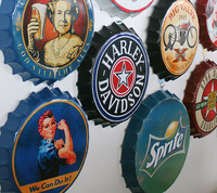 American country beer bar cover decoration ornaments retro wall mural wrought iron products shooting props