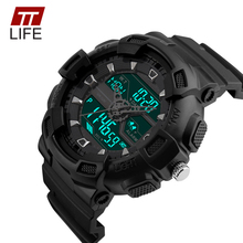 TTLIFE 2016 Sport Watch Dual Time Digital-watch Men Digital Chronograph Waterproof Men's Watch LED Military Male Clock Hour