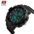 TTLIFE 2017 Reloj Del Deporte Dual Time Digital de Hombres reloj Militar Hombres Reloj Cronógrafo Digital Resistente Al Agua Reloj de Los Hombres LED hora