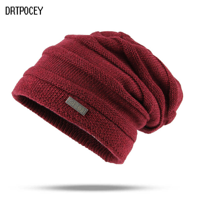d6c3167e1ff Winter Warm Men Women Hats Knit Oversize Baggy Slouchy Beanie Warm Winter  Hat Ski Outdoor Cap Hat For Girls Solid Color Gorro