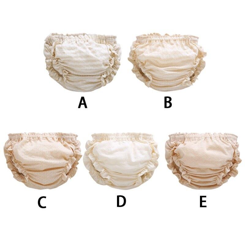 Peuter Pasgeboren Baby Meisje Ondergoed Ruffle Stroken Pp Broek Luierbroekje Luier 0-24 M Baby Meisje Ondergoed Met Traditionele Methoden