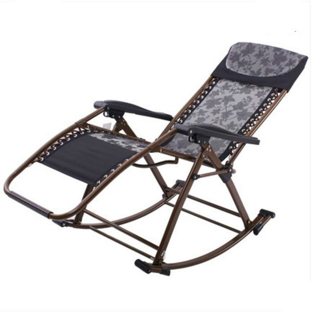 Promotion modern fashion high quality luxury leisure  folding rocking outdoor chair balcony chair  free shipping