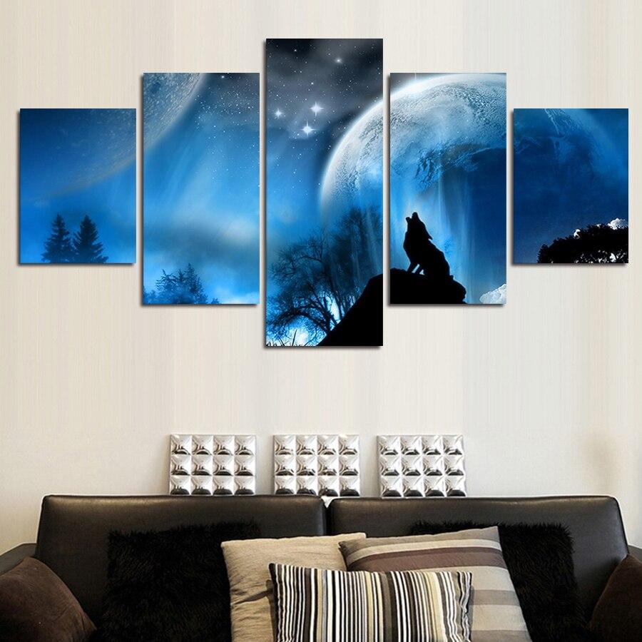 ingelijste 5 panelen lone buitenstaander garnett canvas schilderij moderne muur art modulaire foto home decor muur foto voor woonkamer