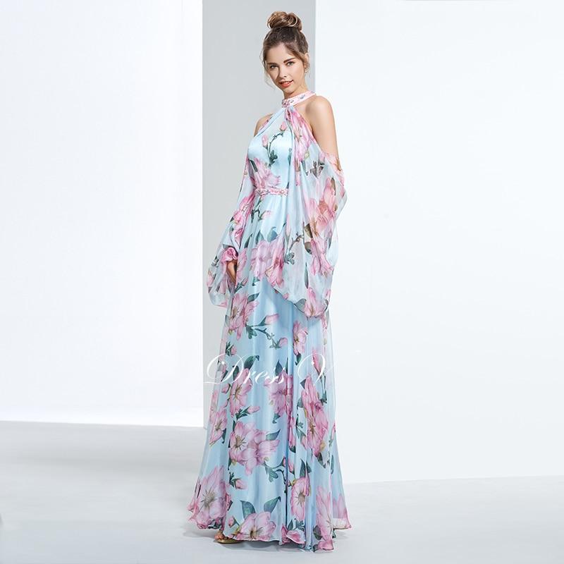 Dressv jeftini tiskanje prom party večernja haljina ular line dugim - Haljina za posebne prigode - Foto 3