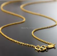 999 Solid 24K Yellow Gold Necklace Chain / O Style Chains / 3.4g 16 Length
