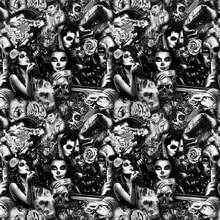 0,5 м X 2 м/10 м рисунок клоуна водная переводная гидрографическая пленка CSKH9017 водная переводная печать