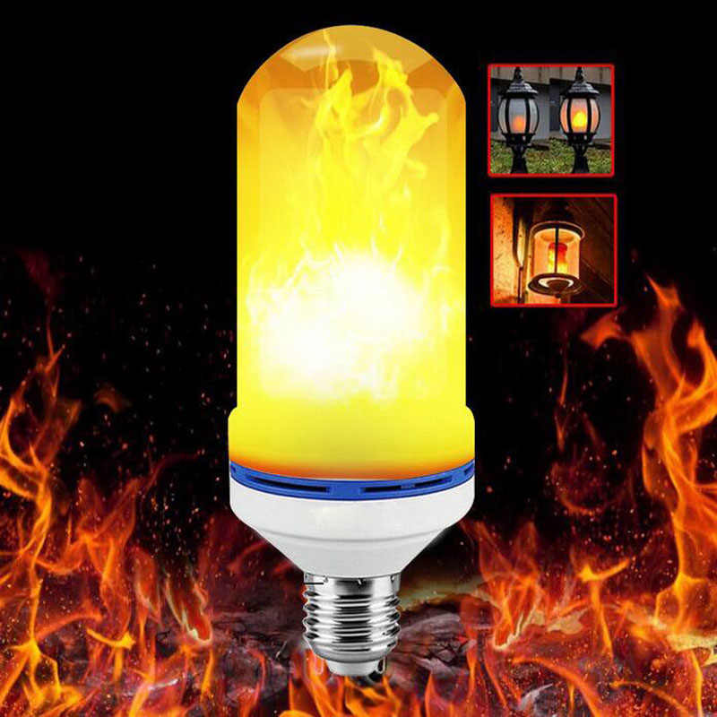 LED Bulbs E27 USB LED lamp Flame Effect Fire Lighting 12W 18W 1 Flickering Emulation flame Light 1900-2200K AC85-265V Flame lamp