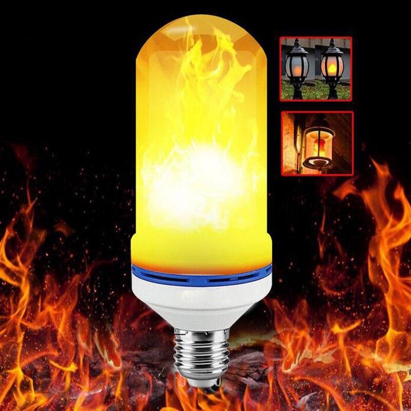 Bombillas Led E27 Usb Lámpara Led Efecto De La Llama De Fuego Iluminación 12 W 18 W 1 Parpadeo De Emulación De Llama De Luz 1900 -lámpara De Llama 2200 K Ac85-265v Mano De Obra Exquisita (En)