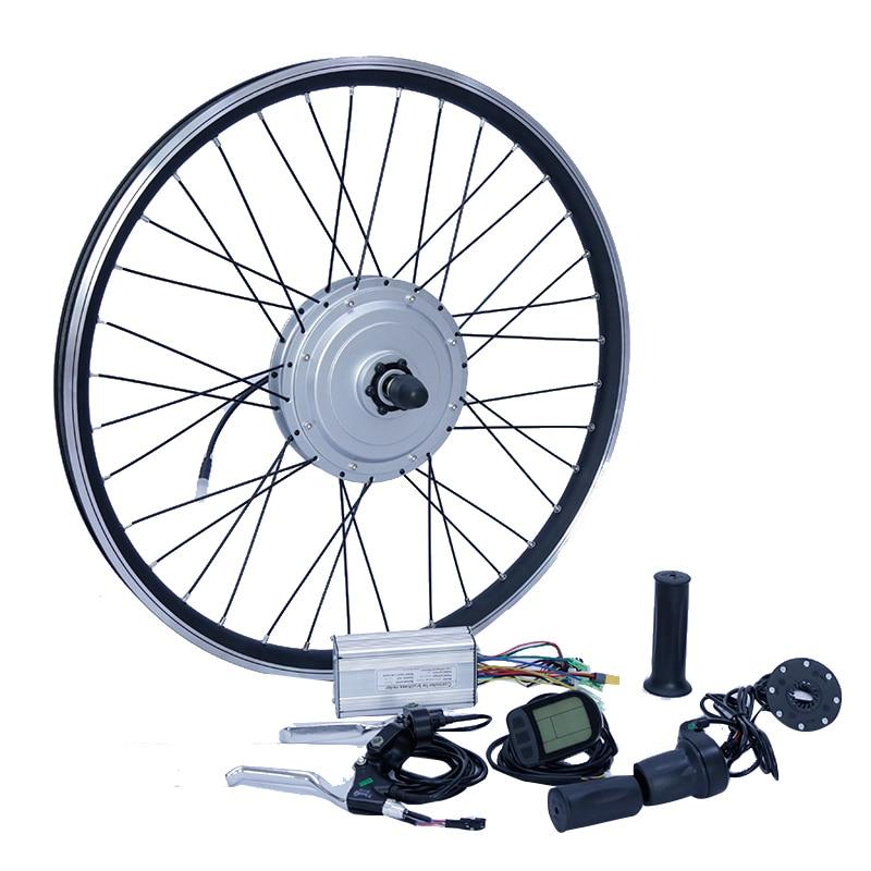 36 v/48 v 800 w moteur Avant roues vélo électrique conversion kit disque de frein/v de frein