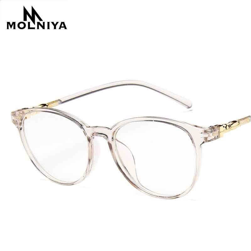 Korea New Round Eye Frame Glasses Men Women Retro Light Transparent Myopia Small Eyeglasses Frames Flat Mirror(China)