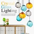 Современный стеклянный подвесной светильник с кристаллами  яркая Подвесная лампа  LED  скандинавский лед  Подвесная лампа для гостиной  спал...