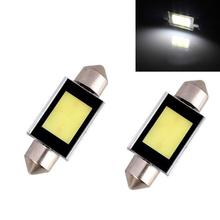 цена на Festoon Double pointed 39mm 4W 300lm COB LED White Light Car Auto Reading Lamp Dome Bulb - (12V / 2 PCS)
