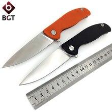 Urso f95 & evo dobrável faca de bolso d2 utilitário combate caça sobrevivência facas rolamento tático ao ar livre resgate edc multi ferramentas