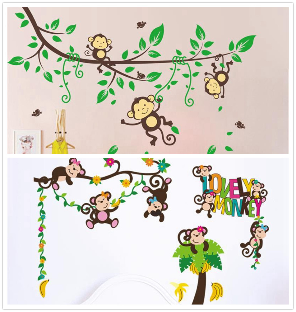 Monkey Bedroom Decorations Compare Prices On Monkey Bedroom Decorations Online Shopping Buy