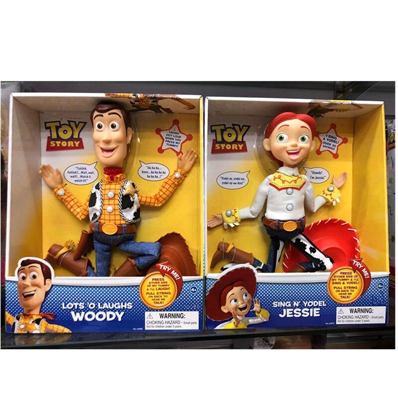 33 CM histoire de jouets Sherif Woody Jessie avec Figurine sonore poupées jouets PVC Figurine d'action Collection jouet modèle H648