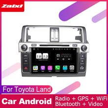 все цены на ZaiXi For Toyota Land Cruiser Prado 150 2014~2017 Car Android Multimedia System 2 DIN Auto DVD Player GPS Navi Navigation Radio онлайн