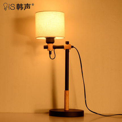 ФОТО Retro restaurant North American type iron lamp rural industrial study desk study bedroom bedside lamp