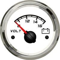 1pc 52mm boat or auto use 12v/8 16v voltage meters voltage gauges lcd volt meters for sale white
