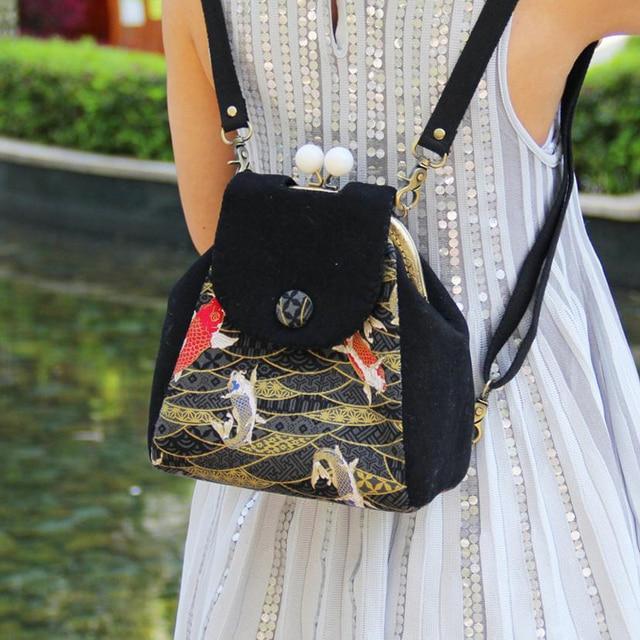 DIY Women Vintage Felt Backpack Easy Handmade Unique Teenager Girls Felt  School Bags Free Cutting Material Package 1ba025d8249f9