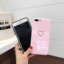 Silicone Soft Tpu Pink heart Phone Case For iPhone 6 7 8 6s Copa Cute Girl Cases For iPhone 6 6s 7 8 Plus Cover case
